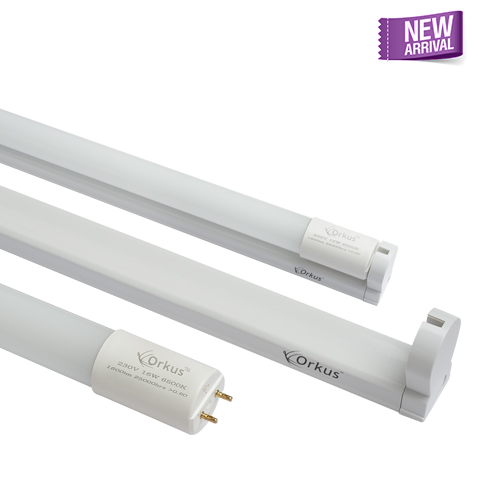 16W T8 LED bright line tube light with fixture